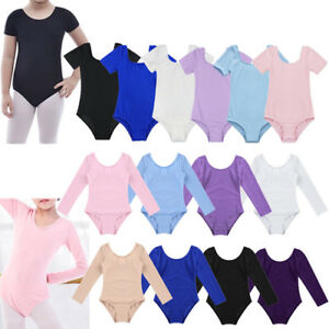 d76da9e1119a Image is loading Girls-Kids-Gymnastics-Ballet-Dance -Leotards-Stretch-Bodysuit-