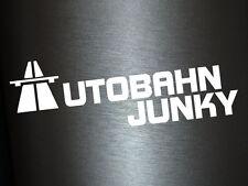 1 x 2 Plott Aufkleber Autobahn Junky Sticker Tuning Shocker Autoaufkleber Fun