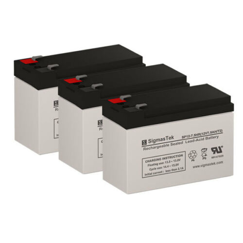 para Systems Minuteman 900SS UPS Replacement Battery Set of 8 by SigmasTek
