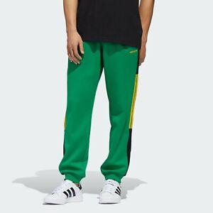 Adidas-GD2065-TRACK-PANTS-PANTALONE-TUTA-CLASSICS-UOMO-VERDE-NUOVA-COLLEZIONE