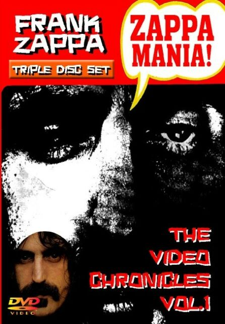 FRANK ZAPPA - ZAPPAMANIA! - THE VIDEO CHRONICLES VOL.1 (3DVD-R) FOOTSTOMP Sealed