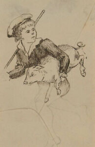 Early 20th Century Pen and Ink Drawing - Tom The Piper's Son