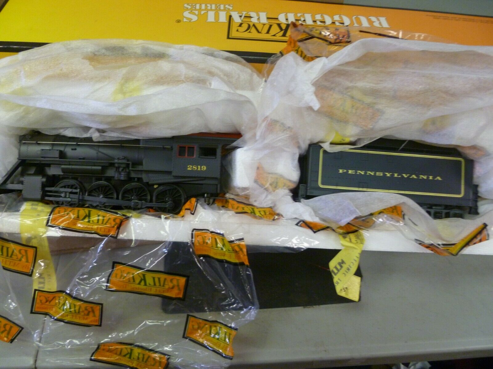 O Scale- Rail King -Lot No. 58- Penn. 2-8-0 Steam-Tender Loco Predo 2.0 in Box