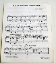 Partition vintage sheet music PHILIPPE CHATEL : Y'a un Bébé Sous Ton * 80's