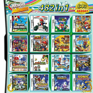 482 In 1 Video Game Card Cartridge Console For Nintendo 2DS 3DS NDS NDSL NDSI