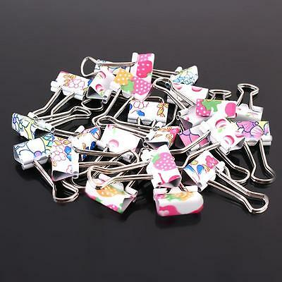 Colorful  Cute Printing Style Clamp Metal Binder Clips / Paper Clips / Clamps