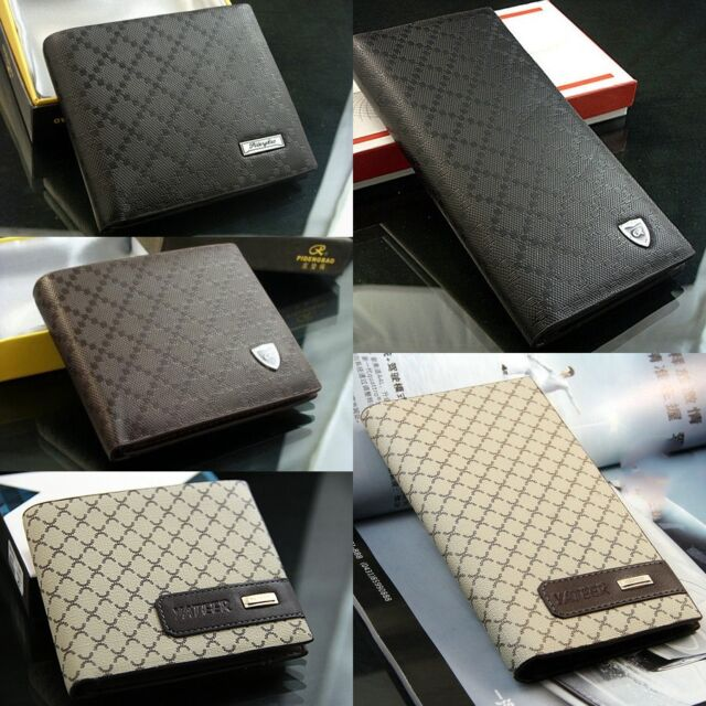 New Men/Ladys'  Leather Bifold Cards Holder Long Wallet Purse Billfold Suit Bag
