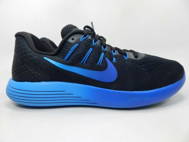 info for 54890 9ad48 Nike Lunarglide 8 Mens 11.5 SNEAKERS Running Shoes Black Blue 843725-004