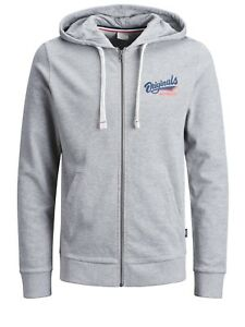 jcojans sweat zip hood top hoodie hoody navy jack and jones