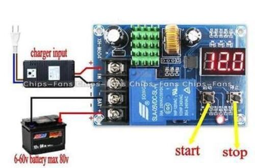 6-60V Controlador De Carga Batería de plomo interruptor de protección 12V 24V 48V L99