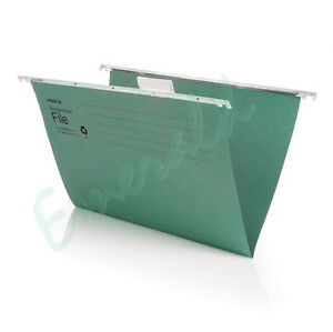 50-x-FOOLSCAP-Heavyweight-Suspension-Files-With-Tabs-amp-Inserts-400mm-Runner