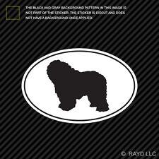 Polish Lowland Sheepdog Euro Oval Sticker Die Cut Decal Adhesive Vinyl dog pet