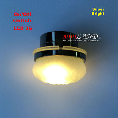 long Ceiling  bright battery operated LED LAMP Dollhouse miniature light 1:12