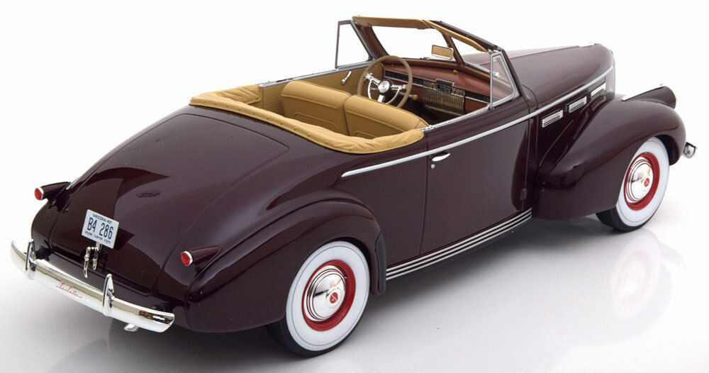 1940 LaSalle Series 50 50 50 Converible Coupe Dark Red by BoS Models LE of 504 1 18 188514