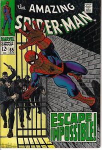 Amazing-Spider-Man-65-Escape-Impossible-Fine-1968-Glossy-Classic-Romita-Cover