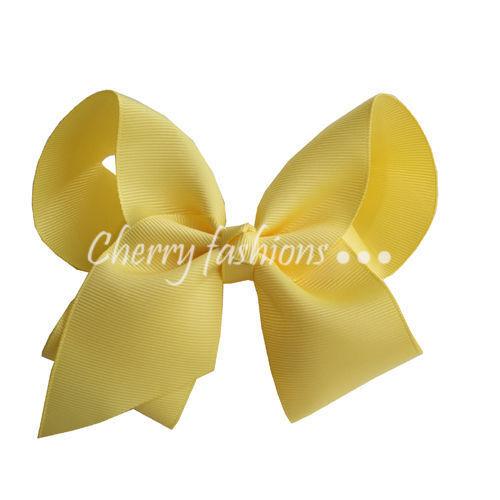 "4/"" Bow Hair Alligator inch knot Clips Girls Rainbow Kids School Quality Bows"