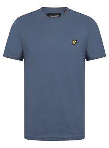 Lyle-and-Scott-TS400V-Mens-Crew-Neck-Short-Sleeve-T-shirt-Indigo-Blue-New