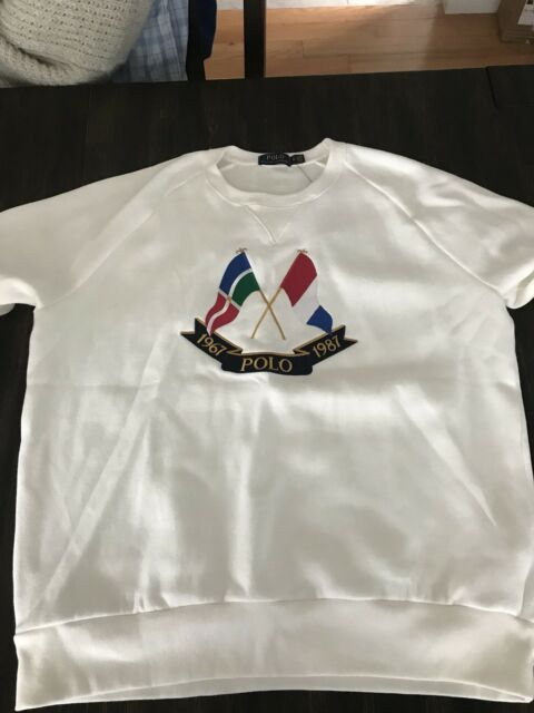 Polo Lauren Cross Ralph Sweatshirt Sz Snow Xl Sweater Flag Flags EID2W9YH