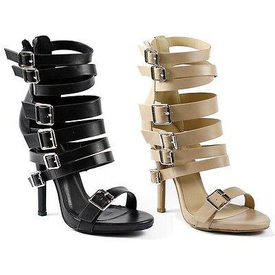Wild Diva Lounge Bridget-42 Strappy Buckle Open Toe Heel Sandal