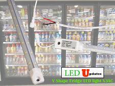 V shape 5ft walk in cooler Fridge LED tube light driver built-in wire AC direct