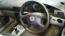 VW Passat B5 GREY 4 Spoke Steering Wheel with Airbag