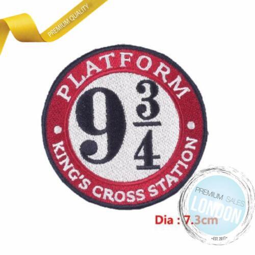 PLATFORM 9 3//4 Kings Cross Harry Potter Hogwarts Iron on Motif Patch Child adult