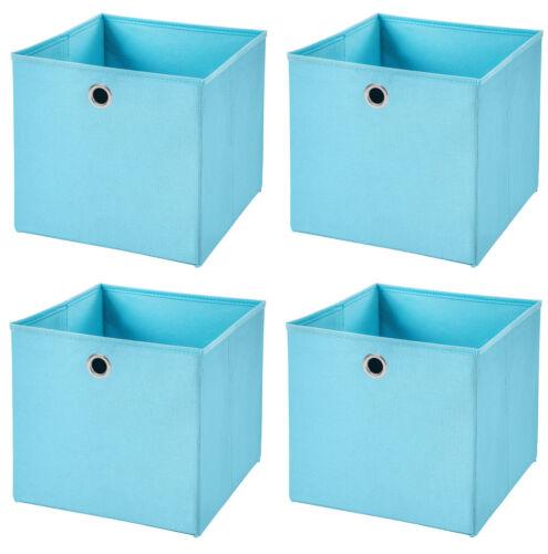 4er Set 32x32x32 Boîte de rangement jeu caisse Corbeille d/'étagère faltkiste Panier Enfants Box