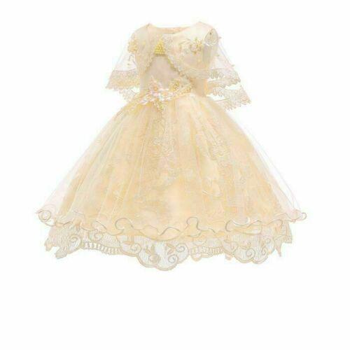 Girl princess baby wedding bridesmaid flower tutu dress dresses kid formal party