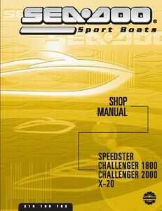 sea doo vehicle service manual 2002 challenger 1800 2002 rh ebay co uk seadoo sportster 1800 owners manual seadoo challenger 1800 repair manual