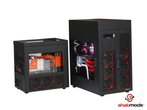 Shakmods 24pin ATX Mobo 30cm Black /& White Sleeved Extension 2 Cable Combs