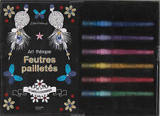 ART THERAPIE FEUTRES PAILLETES 50 CARTES A CUSTOMISER COLORIAGE ANTI-STRESS