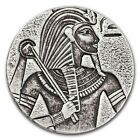 2016 5 Oz Republic of Chad Egyptian Relic Series King Tut Silver Coin