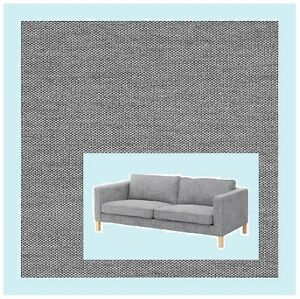 Ikea Karlstad 3 Seat Sofa Cover Knisa Light Gray Slipcover Sivik Isunda Like New Ebay