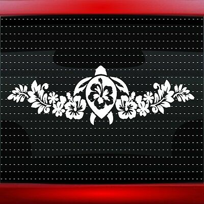 20 COLORS! Hibiscus #12 Hawaiian Flower Cute Car Decal Window Sticker Plumeria