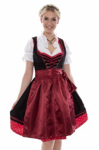 Oktoberfest Tracht Kleid Bluse Schürze Gr 36-42 5007 günstige Dirndl Set 3tlg