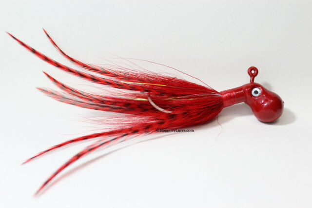 Red Octopus Bucktail Jig Cobia Grouper Saltwater SurfFishing size choice