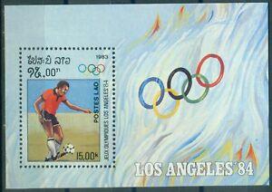 Laos-Block-92-Olympische-Spiele-1984