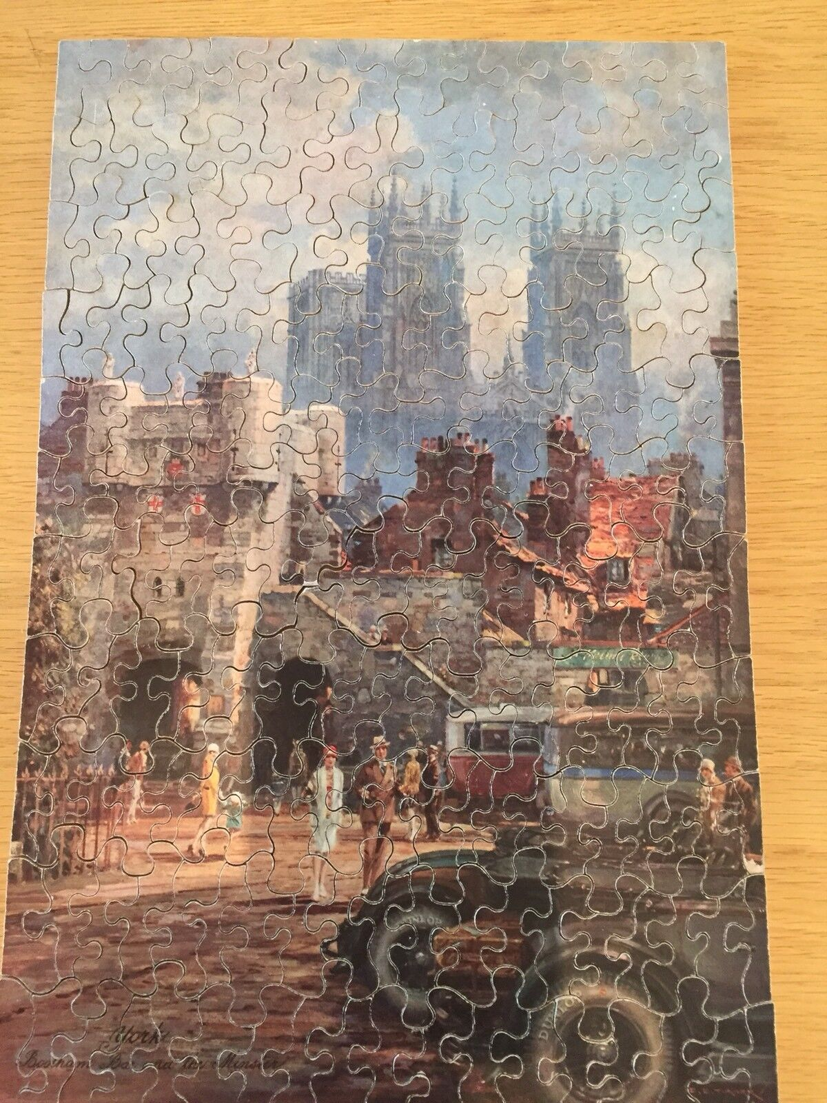 CHADVALLEY DUNLOP PRE1935 RARE200pc WOOD JIGSAW PUZZLE YORKMINSTER & BOOTHAM BAR