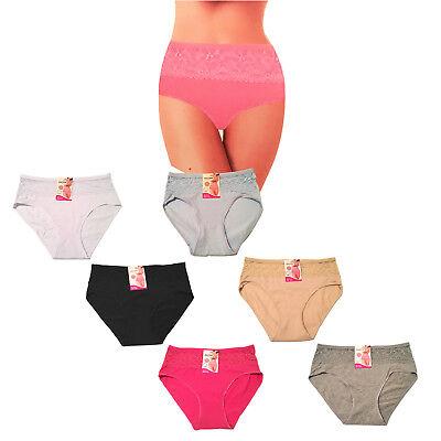 2 Pair Ladies Underwear Big Size Briefs Lacy Big Size Briefs Knickers Underwear