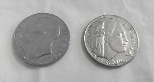 Moneta-20-cent-1942-magnetica-V-Emanuele-III-Impero-Regno-d-039-Italia-SPL
