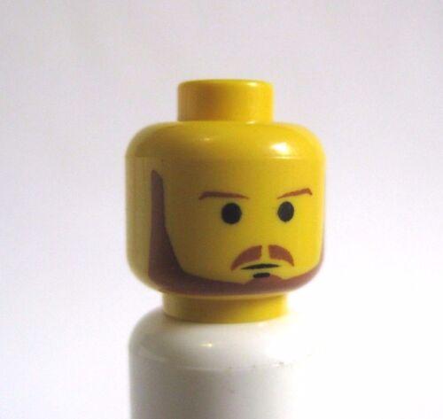 Lego QUI GON JINN Minifigure Head Star Wars 7101 7121 7161 7171 Yellow