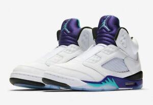 official photos 412c2 77d57 Details about Nike Air Jordan 5 V Sz 9.5 Fresh Prince Of Bel Air Grape  Supreme Bred AV3919-135