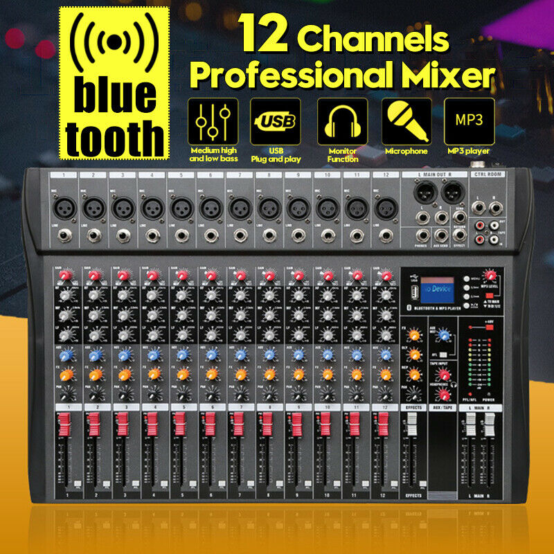 Image 1 - Pro 12 Channels Live Studio Audio Mixer Amplifier USB Mixing Console   ! √