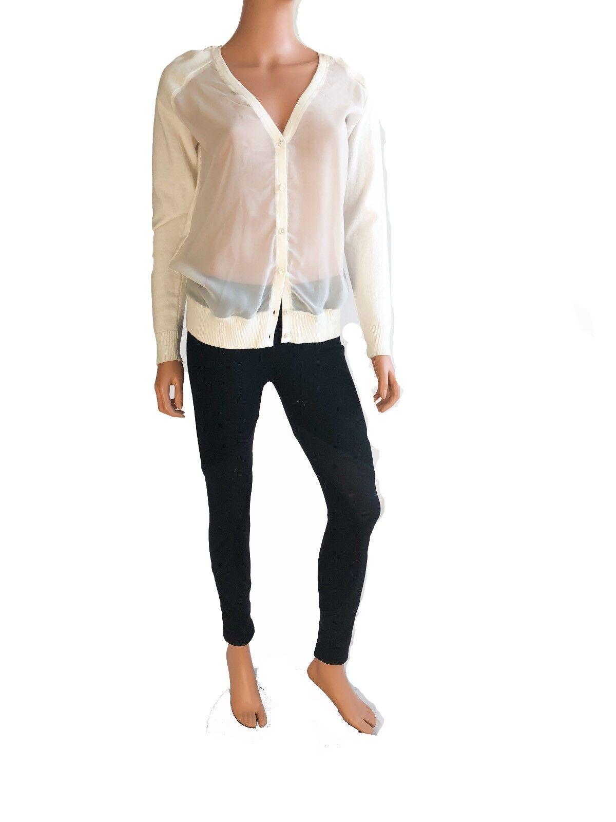 Haute Hippie longsleeve Weiß silk sweater Größe S