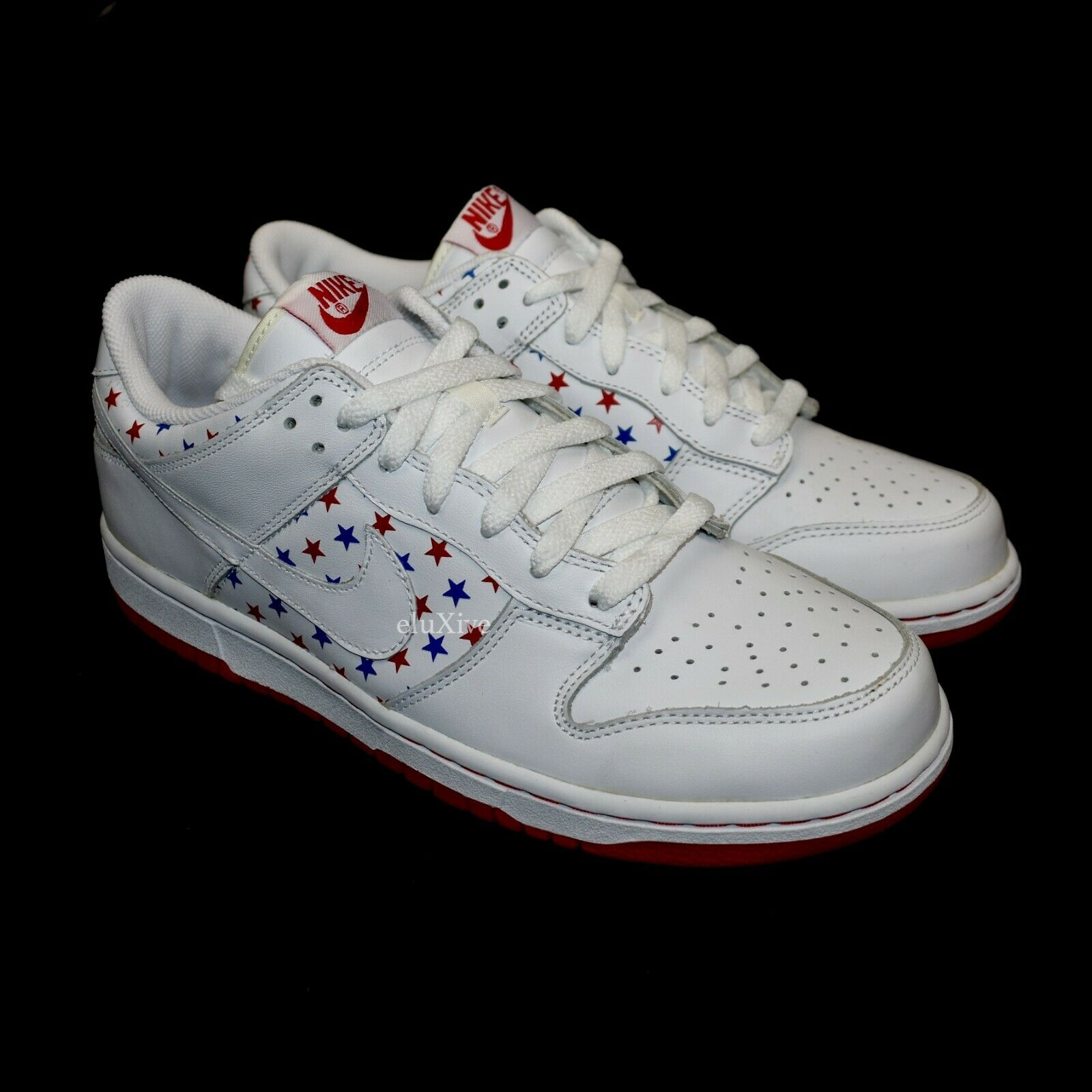 NWT Nike Dunk Low Red White bluee Stars July 4th Independence Day 2005 AUTHENTIC