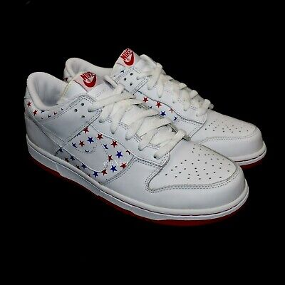 NWT Nike Dunk Low Red White Blue Stars July 4th Independence Day 2005 AUTHENTIC | eBay