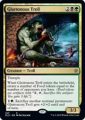 1x Gluttonous Troll Brawl Deck Exclusive NM-Mint English Throne of Eldraine M