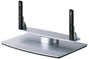 Pioneer-PDK-TS25-Swivel-Table-Top-Plasma-TV-Stand-For-42-039-039-and-50-039-039-Silver