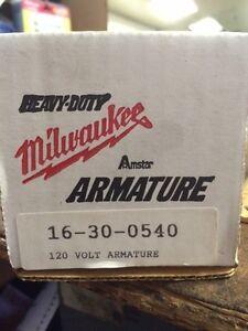 Milwukee 16-30-0540 120 Volt Armature