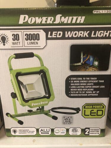 Powersmith PWL1130BS 30 W 3000 LM DEL Travail Lumière avec tous les Boîtier Métallique et 5